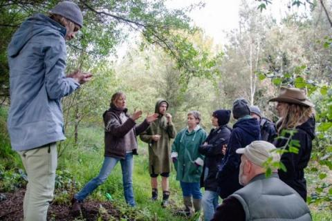 Jo leading a food forest tour