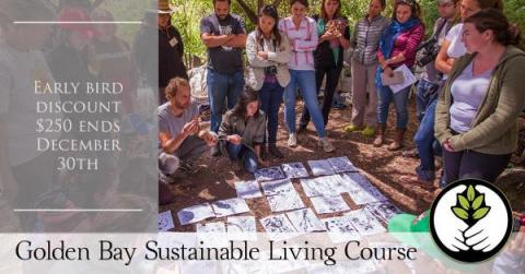 Sustainable Living Course Early Bird Discount: $250